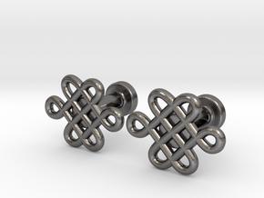 Celtic Cufflinks in Polished Nickel Steel