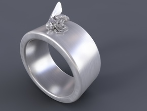 Dead Fly Ring in Polished Silver