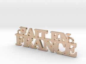 Fait en FRANCE Pendant in 14k Rose Gold Plated Brass