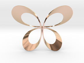 Butterfly Scarf Ring in 14k Rose Gold Plated Brass