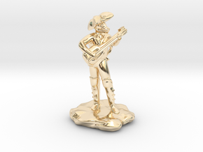 Dragonborn Pirate Bard with Lute and Crossbow in 14K Yellow Gold