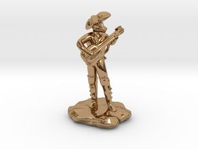 Dragonborn Pirate Bard with Lute and Crossbow in Polished Brass