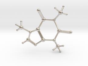 Caffeine Molecule in Platinum