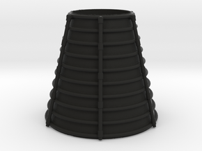 3d Shuttler Engine Cone in Black Natural Versatile Plastic