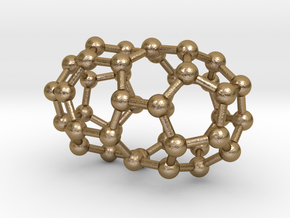 0107 Fullerene C40-1 d5d in Polished Gold Steel