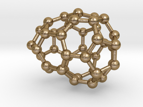 0111 Fullerene C40-5 cs in Polished Gold Steel