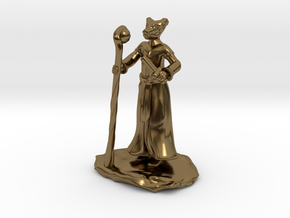 D&D Dragonborn Sorcerer Mini in Polished Bronze