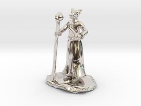 D&D Dragonborn Sorcerer Mini in Platinum