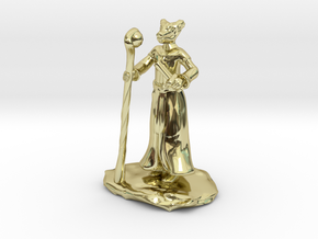 D&D Dragonborn Sorcerer Mini in 18K Gold Plated
