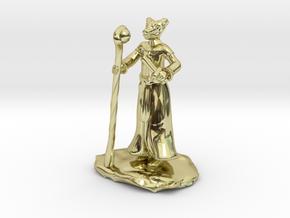 D&D Dragonborn Sorcerer Mini in 18K Gold Plated