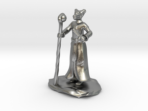 D&D Dragonborn Sorcerer Mini in Natural Silver