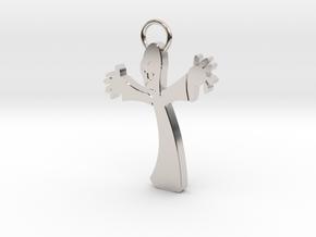 PPI Keychain in Rhodium Plated Brass
