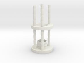 Lightsaber Crystal Chamber - Version 1 - MAIN in White Natural Versatile Plastic
