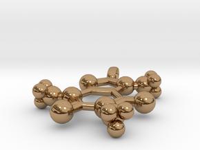 Caffeine Pendant in Polished Brass
