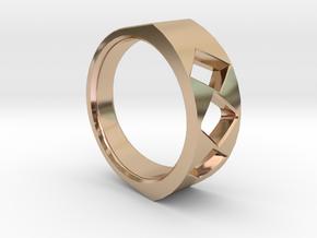 Lite Ring model 2.2 in 14k Rose Gold Plated Brass
