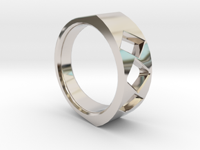 Lite Ring model 2.2 in Rhodium Plated Brass