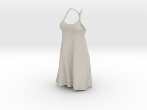 Strappy Little Dress in Natural Sandstone
