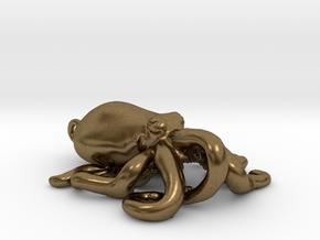 Octopus Pendant in Natural Bronze