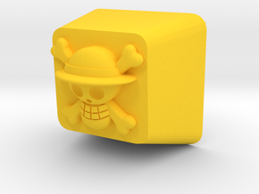 Luffy Cherry MX Keycap in Yellow Processed Versatile Plastic