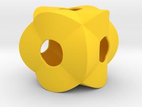 Pendant-c-3-2-30-p1o in Yellow Processed Versatile Plastic