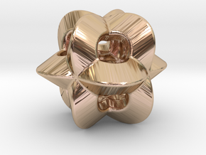 Pendant-c-4-3-8-p1o in 14k Rose Gold Plated Brass