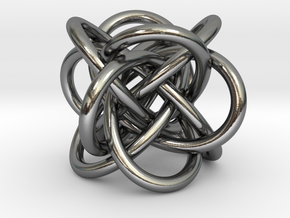 Tetraknot Pendant in Polished Silver