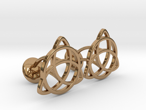 Celtic Knot in Polished Brass
