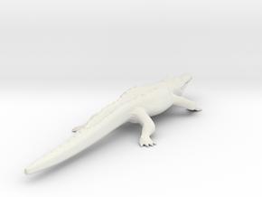 Crocodile in White Natural Versatile Plastic