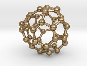 0121 Fullerene C40-15 c2 in Polished Gold Steel