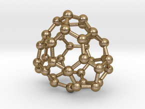 0123 Fullerene C40-17 c1 in Polished Gold Steel