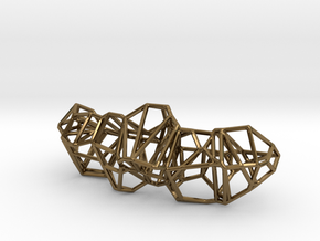 Voronoi Framework Pendent in Polished Bronze