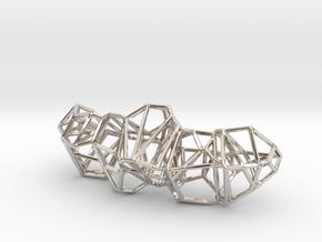 Voronoi Framework Pendent in Rhodium Plated Brass