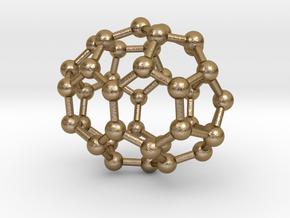 0127 Fullerene C40-21 c2 in Polished Gold Steel
