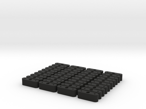 Japanese Instrument Spacers in Black Natural Versatile Plastic