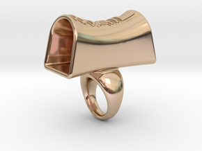 Message of love 15 in 14k Rose Gold Plated Brass