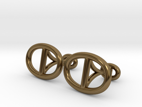 Chain Cufflinks in Polished Bronze