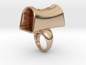 Message of love 18 in 14k Rose Gold Plated Brass