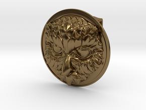 """""""Owliver"""" Belt Buckle in Polished Bronze"""