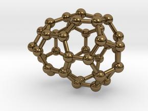 0111 Fullerene C40-5 cs in Polished Bronze