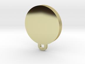 Zeta Eta Pi Pendant in 18k Gold Plated Brass