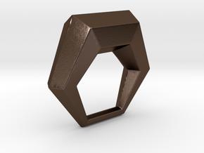 0106 Antisymmetric Torus (p=1; u=6; v=6) 5cm #013 in Polished Bronze Steel