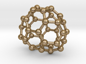 0134 Fullerene C40-28 cs in Polished Gold Steel