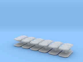 1:96 Navy Doors in set of 12 in Smooth Fine Detail Plastic
