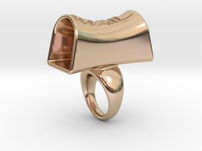 Message of love 25 in 14k Rose Gold Plated Brass