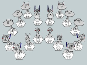 MicroFleet TNG Coalition Heavy Battlegroup (16pcs) in White Strong & Flexible