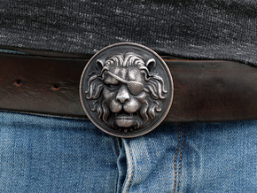 """The Colonel"" Belt Buckle in Polished Grey Steel"