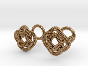Nautical Turk's Head Knot Cufflinks in Polished Brass