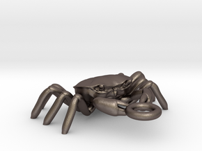 Crabs pendant in Polished Bronzed Silver Steel