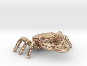 Crabs pendant in 14k Rose Gold Plated Brass