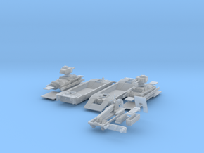 1-148 2x Pz-Tr-W+Pz38t+Schienen in Smooth Fine Detail Plastic